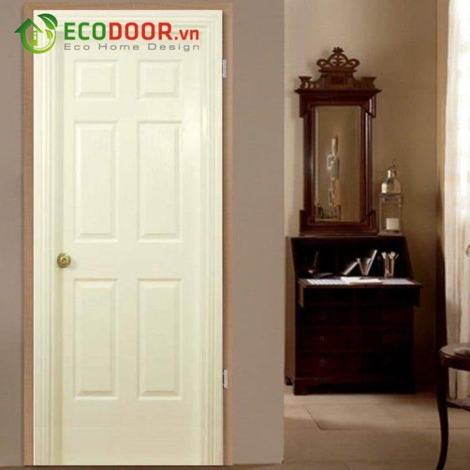 Cửa gỗ HDF FMD.6A-C2 không thấmnước, sử dụng bền đẹp.