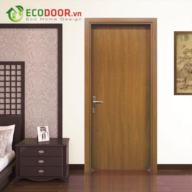 Cửa gỗ MDF MELAMINE M1-1 chịu nhiệt tốt, chống ẩm, chịu nước tốt.