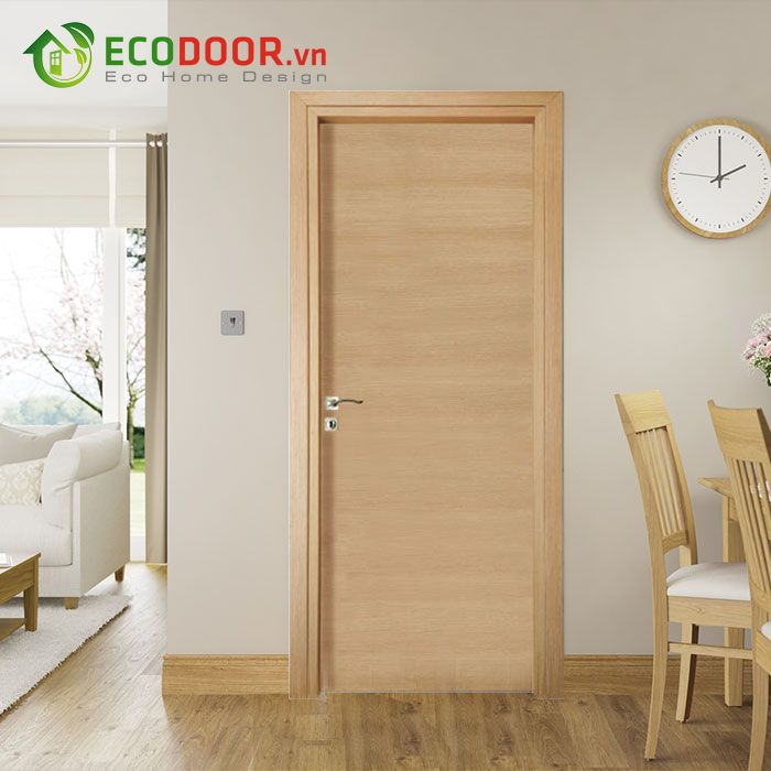 Cửa gỗ MDF MELAMINE M1N1 chịu nhiệt tốt, chống ẩm, chịu nước tốt.