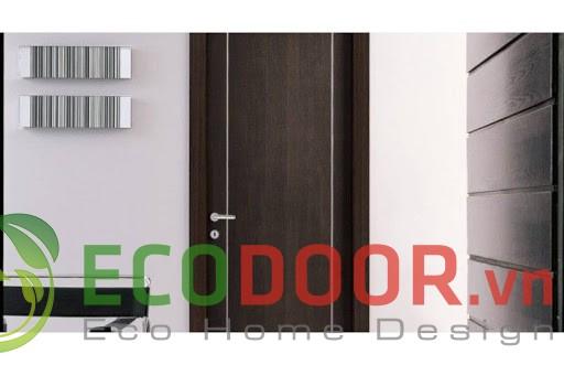 thi công cửa gỗ công nghiệp HDF giá rẻ