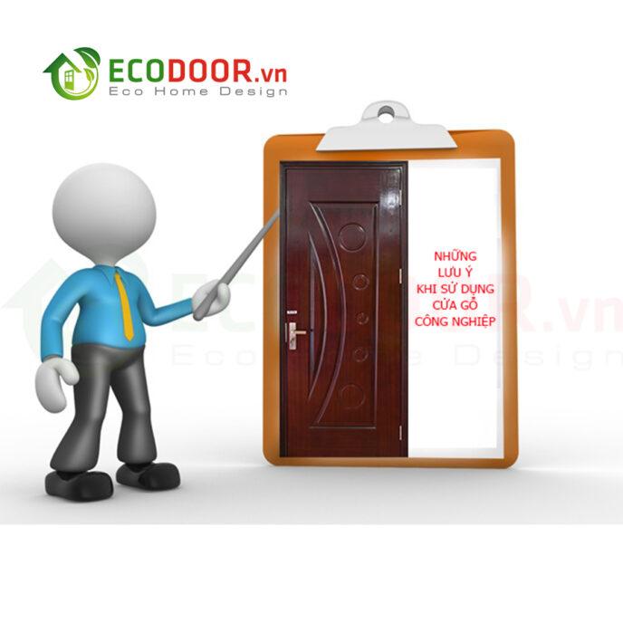 Lưu ý khi sử dụng cửa gỗ công nghiệp